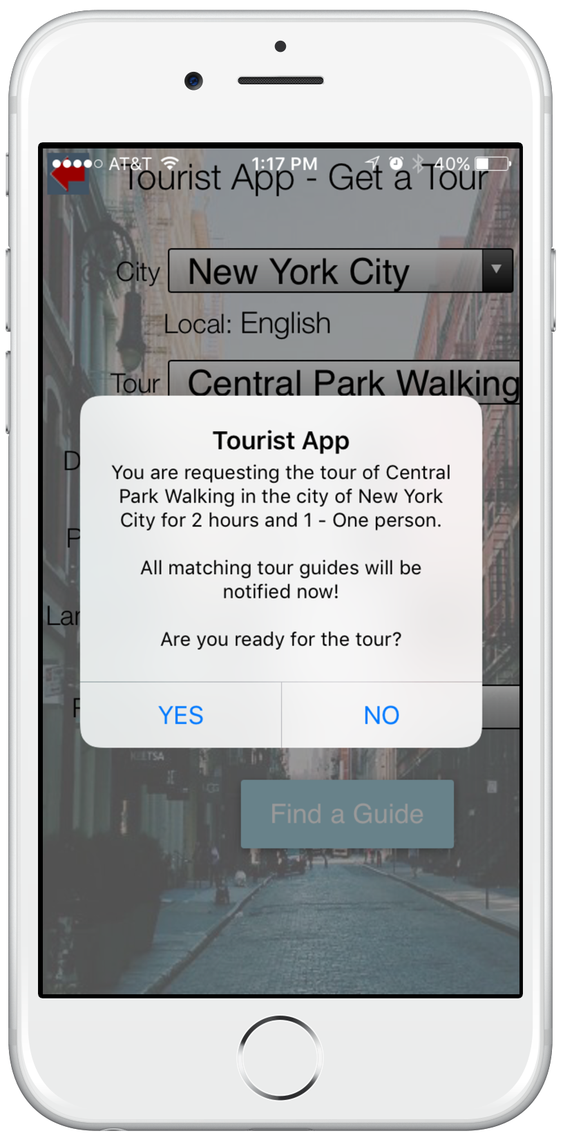 personal tour guide app